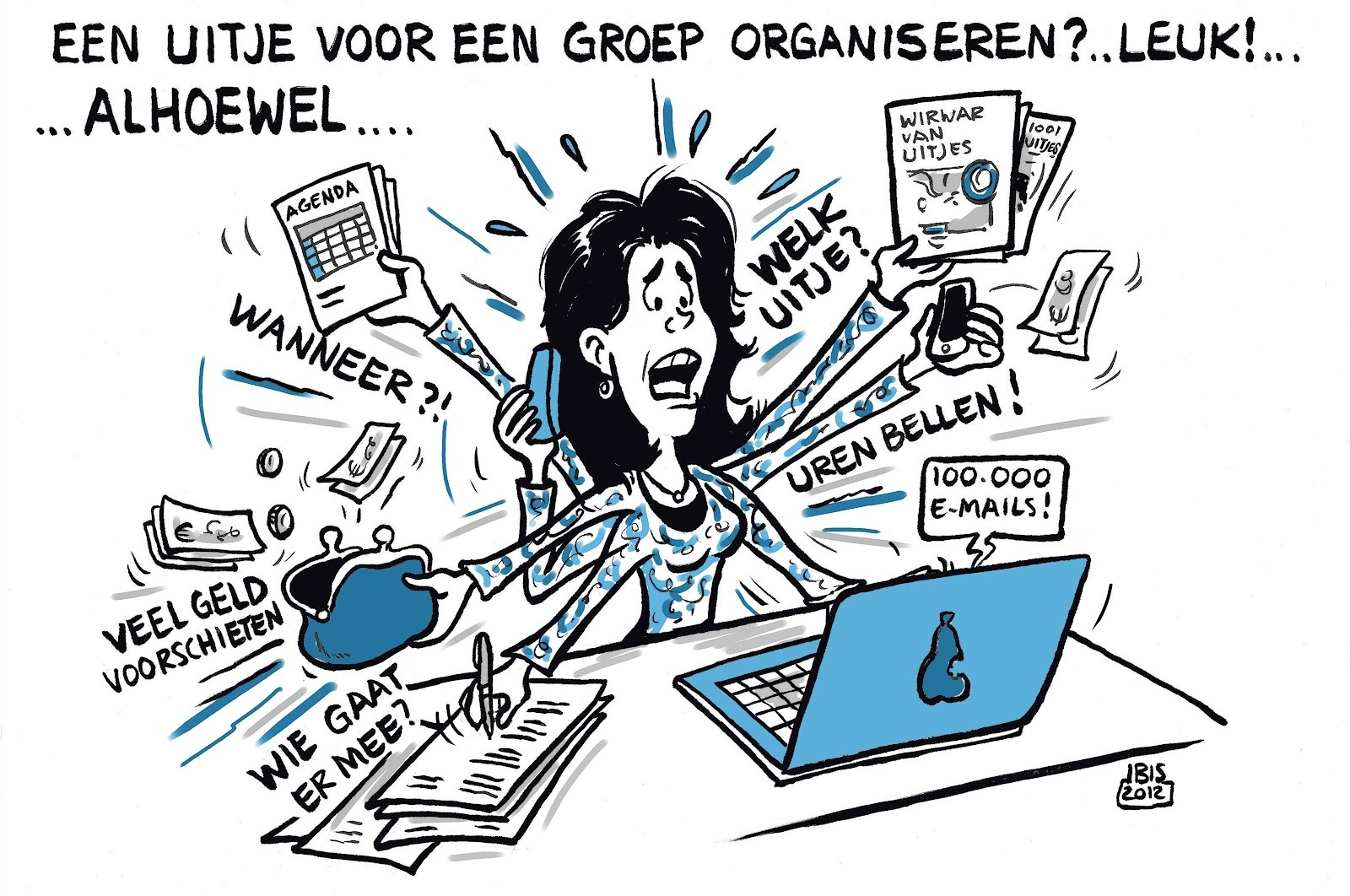 organiseren cartoon